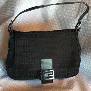 Fendi monogram baguette handbag 100% Autentic